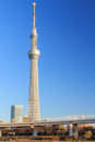 Tokyo sky tree st high bulding of japan Royalty Free Stock Image