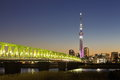 Tokyo sky tree from sumida river at night time Royalty Free Stock Photos