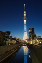 Tokyo sky tree is the world s tallest free standing broadcasting tower it was finally decided on m Stock Photography
