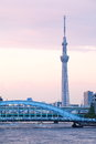 Tokyo sky tree is the world s tallest free standing broadcasting tower it was finally decided on m Royalty Free Stock Photography