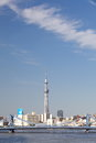 Tokyo sky tree is the world s tallest free standing broadcasting tower it was finally decided on m Royalty Free Stock Images