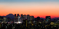 Tokyo skyline and mount fuji view of shinjuku at sunset Stock Images