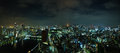 Tokyo skyline at night shot stitch Stock Image
