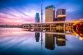 Tokyo Skyline Sumida River Royalty Free Stock Photo