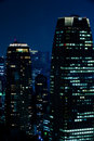 Tokyo skyscrapers night scene Royalty Free Stock Images