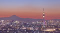 Tokyo skytree with mt fuji city view and Royalty Free Stock Image