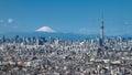 Tokyo Skytree and Mt Fuji Royalty Free Stock Photo