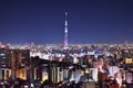 Tokyo skytree and skyline of japan at Stock Photography