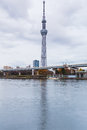 Tokyo Skytree waterfront in Tokyo Royalty Free Stock Photo