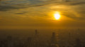 Tokyo sunset aerial panoramic view Royalty Free Stock Photo