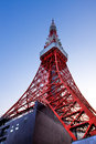 Tokyo tower on HDR Royalty Free Stock Photos