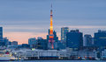 Tokyo Tower in Tokyo, Japan. Royalty Free Stock Photo