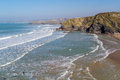 Tolcarne beach newquay cornwall overlooking england uk europe Stock Photography