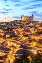 Toledo is capital of province of Toledo, Spain. Royalty Free Stock Photo