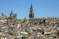 Toledo la mancha spain skyline of the city of in the manch region of central Royalty Free Stock Photography