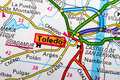 Toledo map the city of in detail on the Stock Images