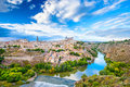 Toledo spain old city skyline town Stock Photography