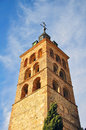 Toledo tower single in old town spain Stock Photo