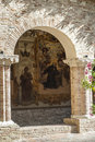 Tolentino - Church of San Nicola, cloister Stock Photos