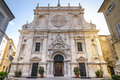 Tolentino - Church of San Nicola, front Stock Photography