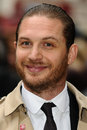 Tom hardy the darkness arriving for european premiere of dark knight rises at odeon leicester square london picture by steve vas Royalty Free Stock Photos