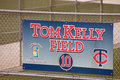 The tom kelly field in hammond stadium in the centurylink sports complex is home to is midst of a major renovation Royalty Free Stock Image