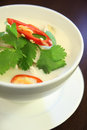 Tom kha gai one of popular soup from thai cuisine cook from coconut milk and galanga Royalty Free Stock Image