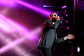 Tom Meighan, singer of Kasabian rock band, performs at FIB Festival Royalty Free Stock Photo