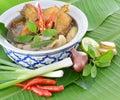 Tom yam fish thai food thai cuisine isolated on background Royalty Free Stock Photo