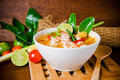 Tom yam kong or Tom yum soup. Thai food. Royalty Free Stock Photo