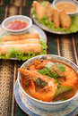 Tom yam kung thai cuisine Royalty Free Stock Image