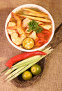Tom yam soup Images libres de droits