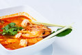 Tom yum goong the most aromatic thai spicy sour soup Stock Photography