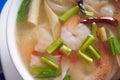 Tom yum goong soup thai cuisine Royalty Free Stock Image