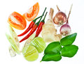 Tom yum ingredient Royalty Free Stock Images
