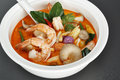 Tom yum kung food in thailand Stock Photo