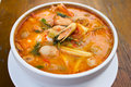 Tom yum kung thai spicy soup Royalty Free Stock Photo