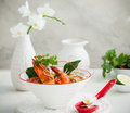 Tom yum soup traditional thai spicy with shrimp Stock Image