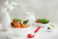 Tom yum soup traditional thai spicy with shrimp Royalty Free Stock Photography