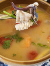 Tom yum talaysoup traditional thai talay soup in a bowl Stock Image