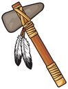 Tomahawk native american indian weapons Stock Photos