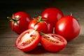 Tomates rojos frescos Imagen de archivo libre de regalías
