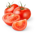 isolated tomatoes Royalty Free Stock Photo