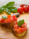Tomato bruschetta Royalty Free Stock Image