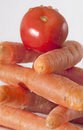 Tomato and carrots Royalty Free Stock Photo