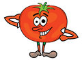 Tomato cartoon character vector illustration of a Royalty Free Stock Images