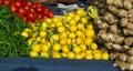 Tomato chilly lemon store Stock Image