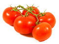 Tomato close up isolated on white background Royalty Free Stock Images