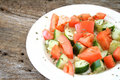 Tomato Cucumber Salad Royalty Free Stock Photo
