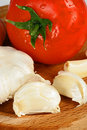 Tomato and garlic Royalty Free Stock Images